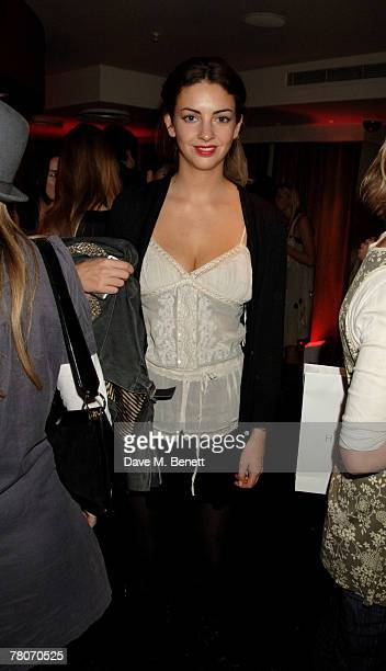 Rose Hanbury attends the Kova T launch party at Harvey Nichols November 22 2007 in London England