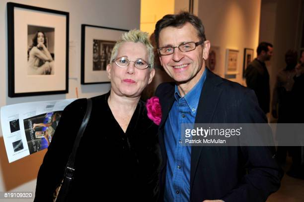 Rose Hartman and Mikhail Baryshnikov attend THE WOOSTER GROUP First Benefit Art Auction at Sean Kelly Gallery on March 15 2010 in New York City