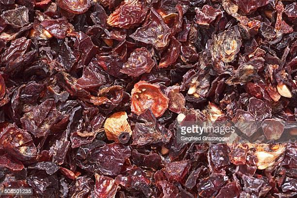 Rose hip tea, dried rose hips -Rosa canina-