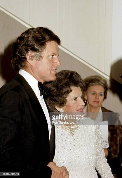 Rose Kennedy and Ted Kennedy during 'Funny Lady' Washington DC Premiere at Kennedy Center in Washington DC Maryland United States