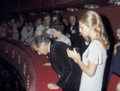 Rose Kennedy Leonard Bernstein and Joan Kennedy during Opening of The Kennedy Center For The Performing Arts at The Kennedy Center in Washington DC...