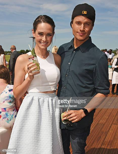 Rose Killin and Laurie Calvert attend the Audi Polo Challenge 2015 at Cambridge County Polo Club on July 3 2015 in Cambridge England