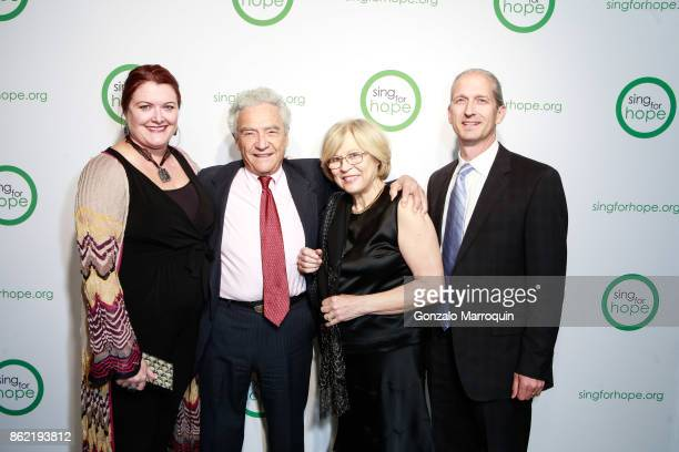 Rose Lee Yetter Yoel Haller Dina Durant and Scott Yetter during the Sing for Hope Gala 2017 at Tribeca Rooftop on October 16 2017 in New York City