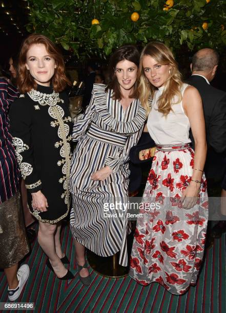 Rose Leslie and Portia Leslie and Cressida Bonas attends the Tory Burch Regent Street opening After Partyat Isabel on May 22 2017 in London England