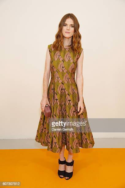 Rose Leslie attends the Emilia Wickstead show during London Fashion Week Spring/Summer collections 2016/2017 on September 17 2016 in London United...