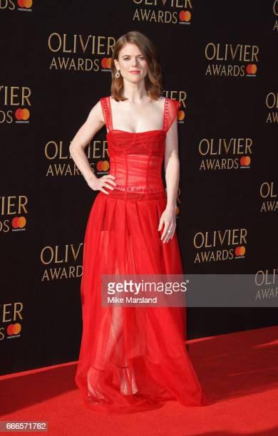Rose Leslie attends The Olivier Awards 2017 at Royal Albert Hall on April 9 2017 in London England