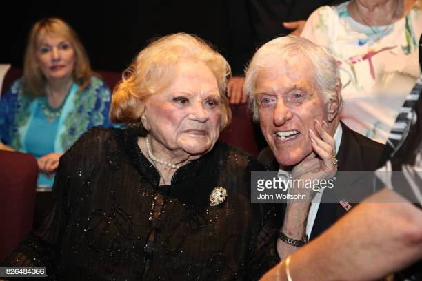 Rose Marie and Dick Van Dyke attend the special screening and QA 'Rose Marie Wait for Your Laugh' at Aero Theatre on August 3 2017 in Santa Monica...