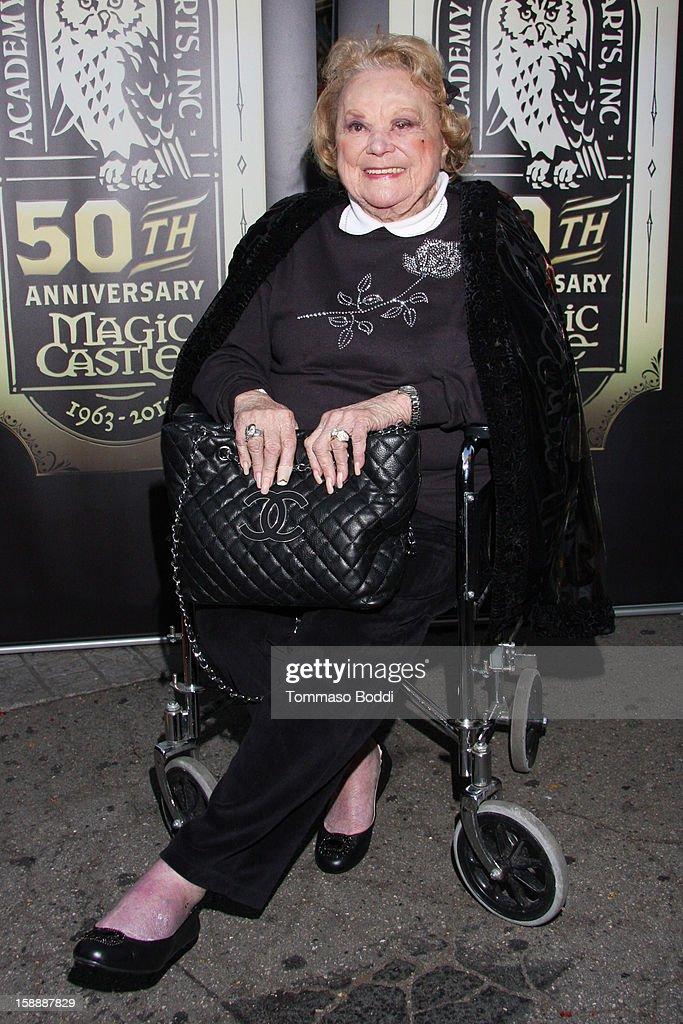 Rose Marie attends the Academy of Magical Arts & The Magic Castle 50th anniversary gala held at The Magic Castle on January 2, 2013 in Hollywood, California.
