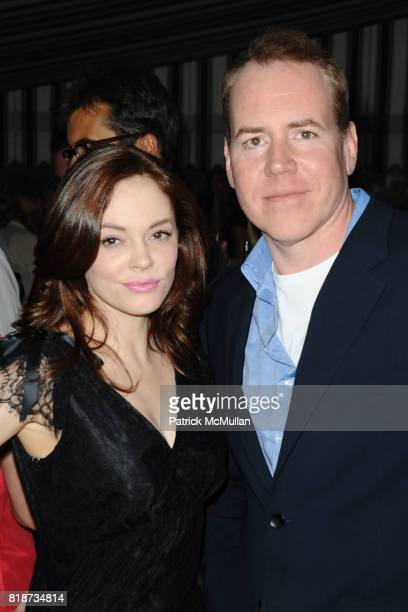 Rose McGowan and Bret Easton Ellis attend Bret Easton Ellis to celebrate the publication of his new novel IMPERIAL BEDROOMS at Penthouse on June 10...