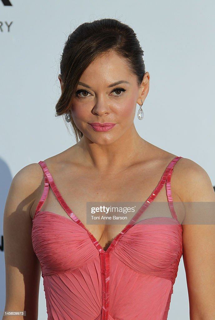 Rose McGowan arrives at amfAR's Cinema Against AIDS at Hotel Du Cap on May 24, 2012 in Antibes, France.