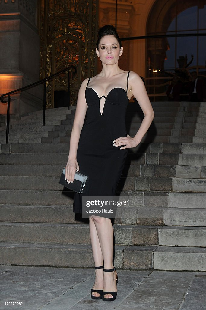 Rose McGowan arrives at 'The Glory Of Water' : Karl Lagerfeld's Exhibition Dinner at Fendi on July 3, 2013 in Paris, France.