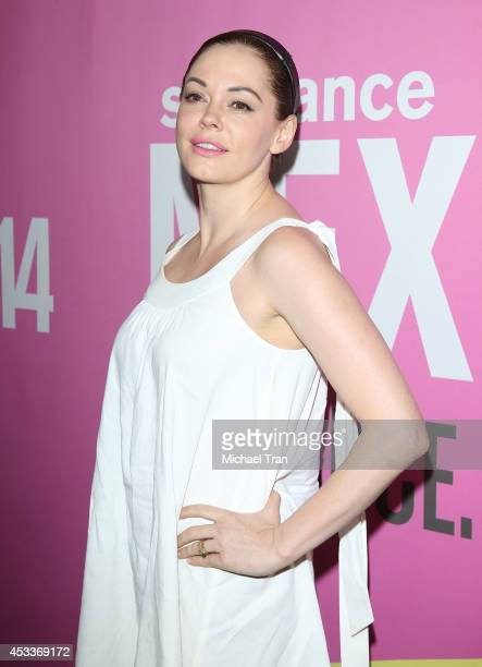Rose McGowan arrives at the Los Angeles Premiere of 'Life After Beth' held during the 2014 Sundance NextFest at The Theatre at Ace Hotel Downtown LA...