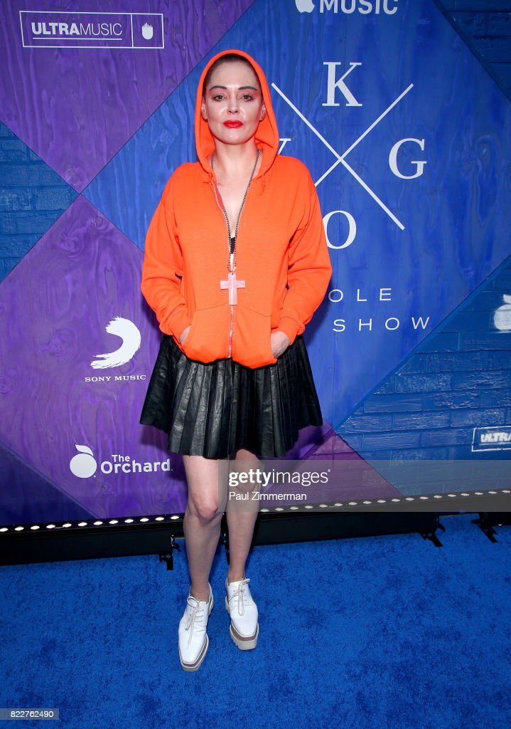 Rose McGowan attends Apple Music and KYGO 'Stole The Show' documentary film premiere at The Metrograph on July 25, 2017 in New York City.