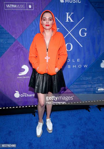 Rose McGowan attends Apple Music and KYGO 'Stole The Show' documentary film premiere at The Metrograph on July 25 2017 in New York City
