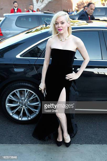 Rose McGowan attends Audi at 21st Annual Elton John AIDS Foundation Academy Awards Viewing Party at West Hollywood Park on February 24 2013 in West...