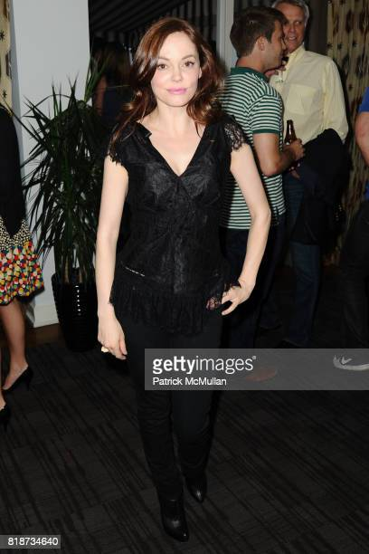 Rose McGowan attends Bret Easton Ellis to celebrate the publication of his new novel IMPERIAL BEDROOMS at Penthouse on June 10 2010 in Chateau...