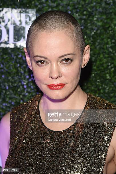 Rose McGowan attends Celebration for Francesco Vezzoli's Ossessione Vezzoli at Nautilus Hotel on December 2 2015 in Miami Beach Florida