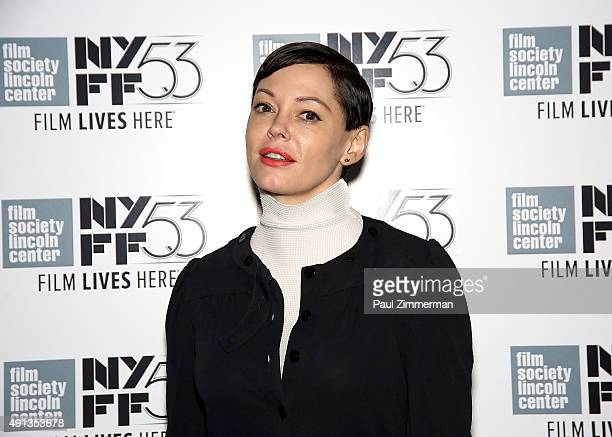 Rose McGowan attends the 53rd New York Film Festival 'NYFF Live' at Elinor Bunin Munroe Film Center on October 4 2015 in New York City