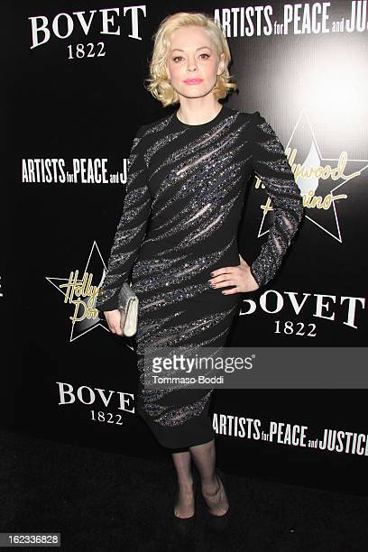 Rose McGowan attends the 6th annual Hollywood Domino Gala Tournament held at teh Sunset Tower on February 21 2013 in West Hollywood California