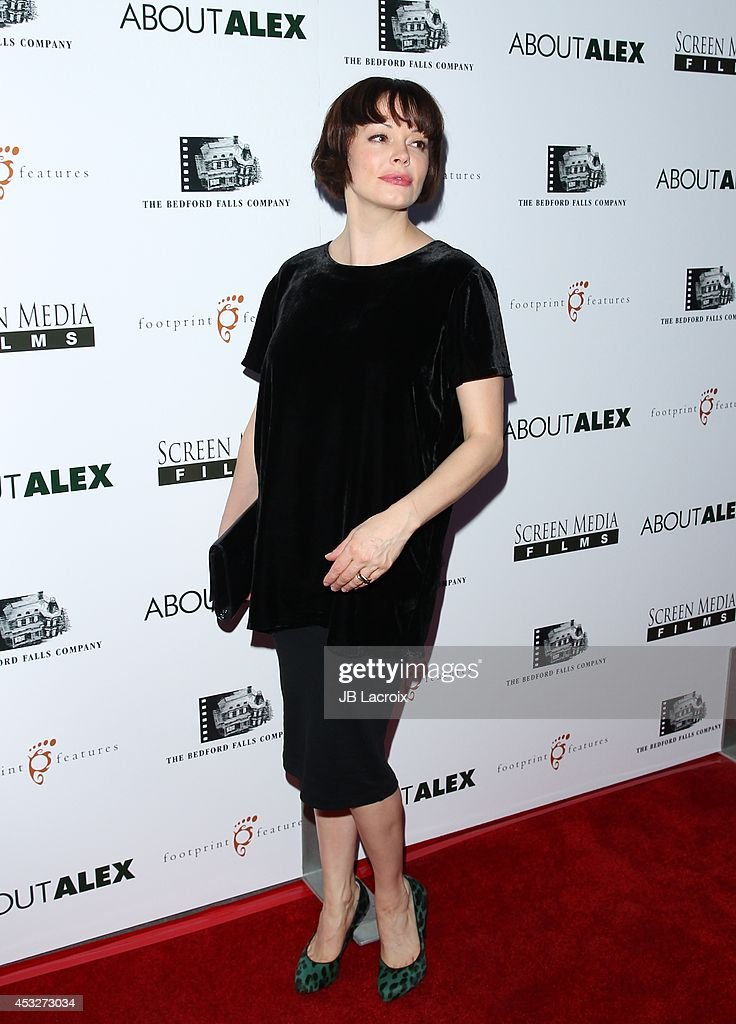 <a gi-track='captionPersonalityLinkClicked' href=/galleries/search?phrase=Rose+McGowan&family=editorial&specificpeople=206451 ng-click='$event.stopPropagation()'>Rose McGowan</a> attends the 'About Alex' Los Angeles premiere held at the Arclight Theater on August 6, 2014 in Hollywood, California.
