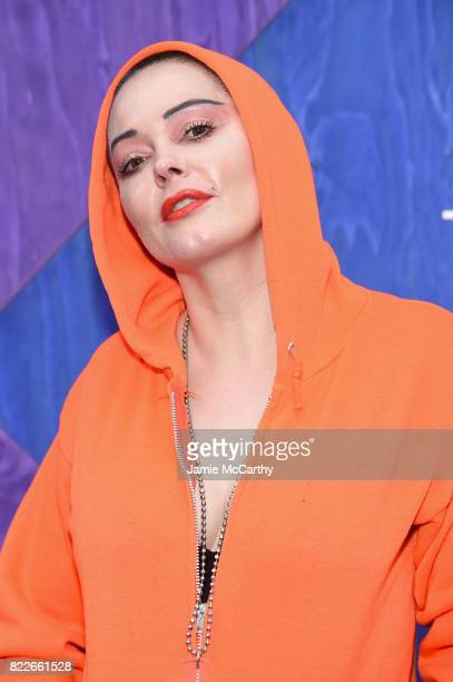 Rose McGowan attends the Apple Music and KYGO 'Stole The Show' Documentary Film Premiere at The Metrograph on July 25 2017 in New York City