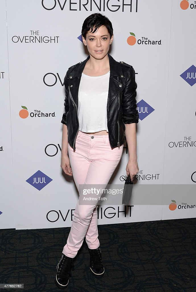<a gi-track='captionPersonalityLinkClicked' href=/galleries/search?phrase=Rose+McGowan&family=editorial&specificpeople=206451 ng-click='$event.stopPropagation()'>Rose McGowan</a> attends 'The Overnight' New York Premiere at Sunshine Landmark on June 18, 2015 in New York City.