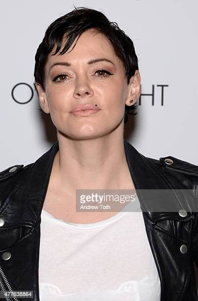 Rose McGowan attends 'The Overnight' premiere at Sunshine Landmark on June 18 2015 in New York City