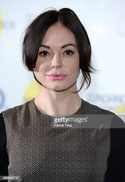 Rose McGowan attends the Shorts Programme photocall during the Sundance London Film and Music Festival 2014 held at the Cineworld 02 Arena on April...