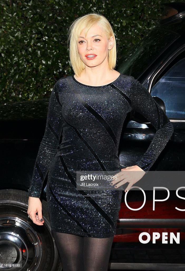 Rose McGowan attends the Topshop Topman LA Opening Party held at Cecconi's Restaurant on February 13, 2013 in Los Angeles, California.