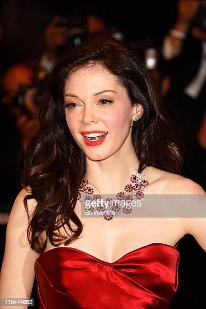 Rose McGowan during 2007 Cannes Film Festival 'Death Proof' Premiere at Palais des Festival in Cannes France