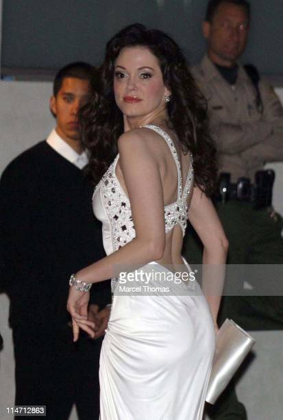 Rose McGowan during 2007 Vanity Fair Oscar Party Hosted by Graydon Carter Arrivals at Mortons in West Hollywood California United States