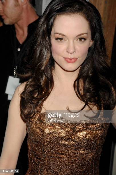 Rose McGowan during First Annual Spike TV's Guys Choice Backstage and Audience at Radford Studios in Los Angeles California United States