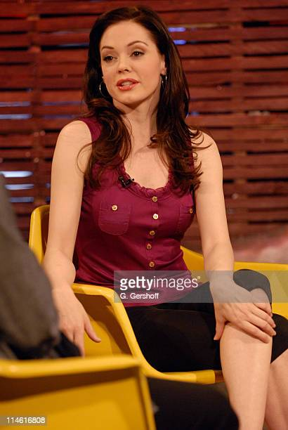 Rose McGowan during Giovanni Ribisi Rose McGowan and WWE Diva Ashley Visit Fuse's 'The Sauce' April 12 2007 at FUSE Studios in New York City New York...
