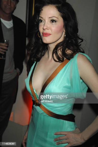 Rose McGowan during HBO 2007 PreGolden Globes Party at Chateau Marmont in Los Angeles California United States