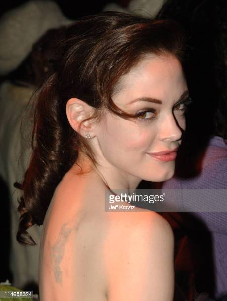 Rose McGowan during HBO's Annual PreGolden Globes Private Reception at Chateau Marmont in Los Angeles California United States