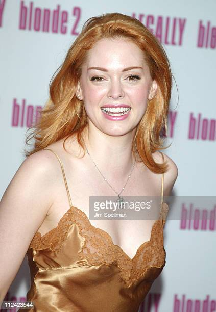 Rose McGowan during 'Legally Blonde 2 Red White Blonde' Premiere New York City Outside Arrivals at Ziegfeld Theater in New York City New York United...