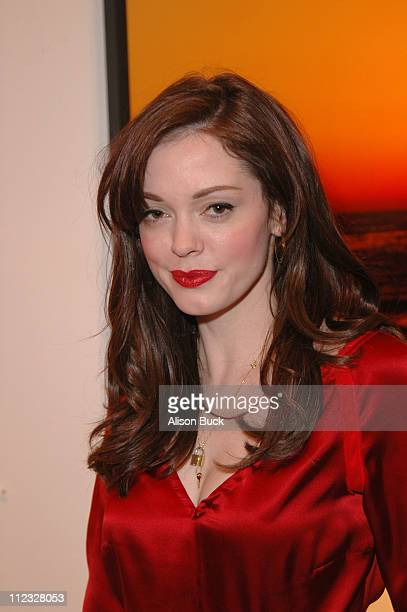 Rose McGowan during Lisa Eisner Gallery Opening at MB April 22 2006 at MB Gallery in West Hollywood California United States