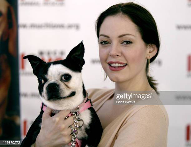 """Rose McGowan during 'Silver Spoon Dog and Baby Buffet"""" Benefitting Much Love Animal Rescue Day One at Private Residence in Beverly Hills California..."""