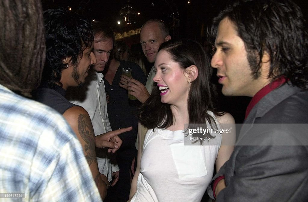 Rose McGowan during Vespa Scooter Party in Hollywood, California.