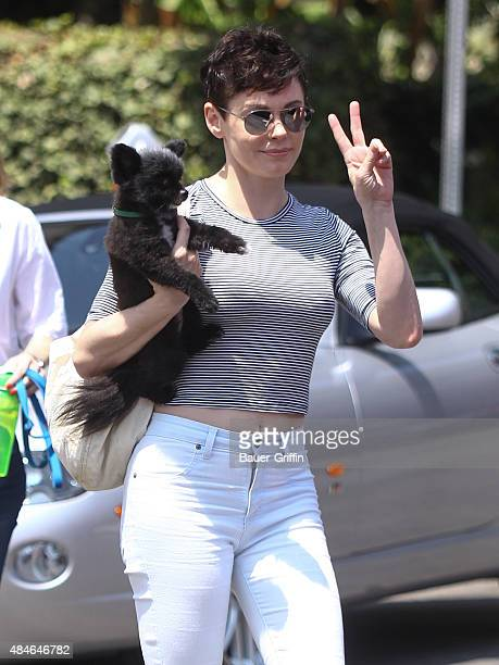 Rose McGowan is seen on August 20 2015 in Los Angeles California