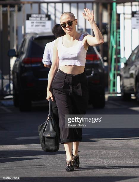 Rose McGowan is seen on November 20 2015 in Los Angeles California