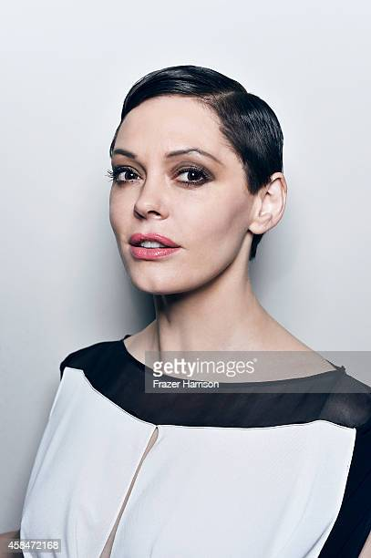 Rose Mcgowan poses for a portrait at the amfAR LA Inspiration Gala on October 29 2014 in Los Angeles California