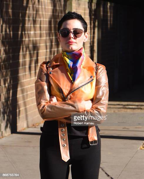 Rose McGowan seen out and about in Manhattan on October 31 2017 in New York City