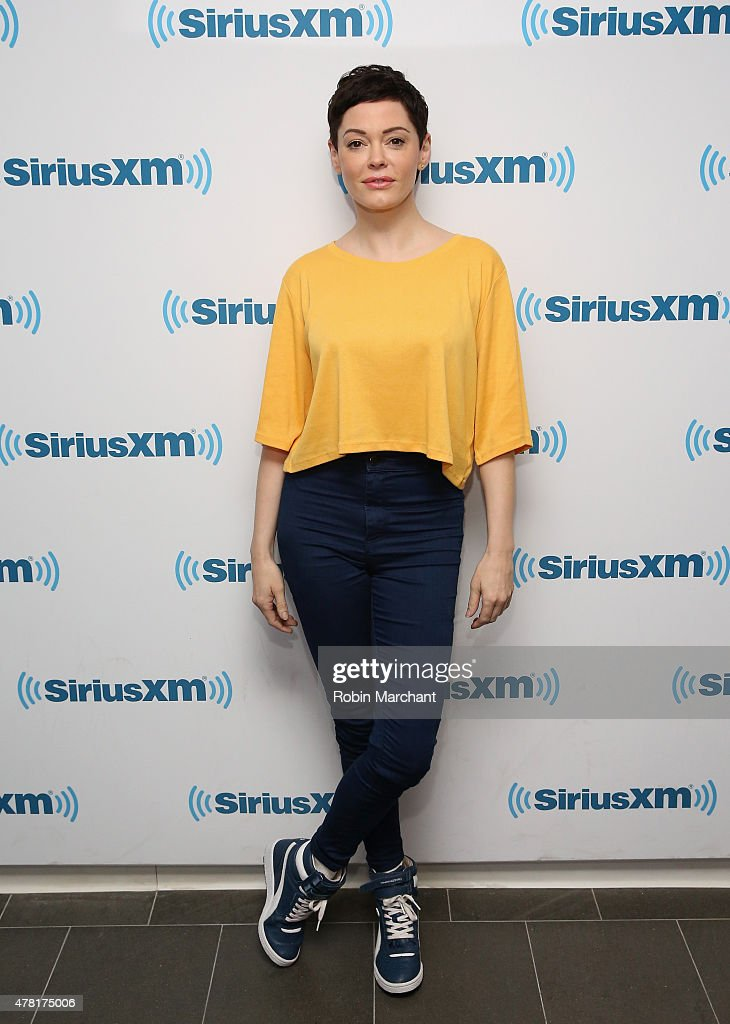 <a gi-track='captionPersonalityLinkClicked' href=/galleries/search?phrase=Rose+McGowan&family=editorial&specificpeople=206451 ng-click='$event.stopPropagation()'>Rose McGowan</a> visits at SiriusXM Studios on June 23, 2015 in New York City.