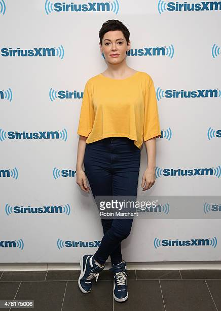Rose McGowan visits at SiriusXM Studios on June 23 2015 in New York City