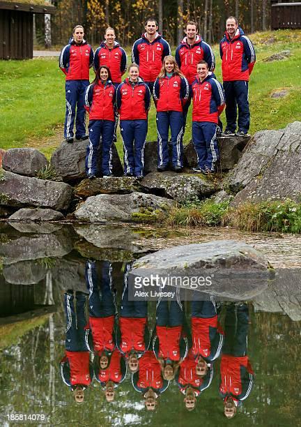 Rose McGrandle Lizzy Yarnold Domonic Parson Ed Smith Kristan Bromley Shelley Rudman Laura Deas Donna Creighton and David Swift of the Team GB...