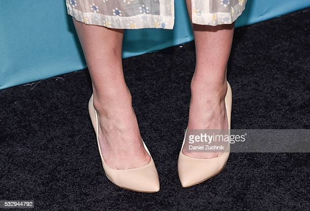 Rose Mclver heels detail of the series 'iZombie' attends The CW Network's 2016 New York Upfront at The London Hotel on May 19 2016 in New York City