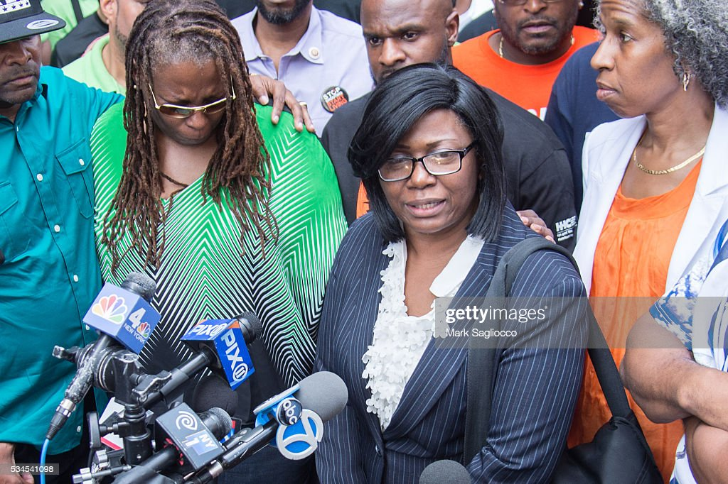 Rose McPhatter, mother of shooting victim Ronald McPhatter, attends the National Anti-Violence Community Press Conference at Irving Plaza on May 26, 2016 in New York City.