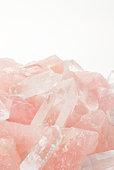 Rose quartz and Crystal