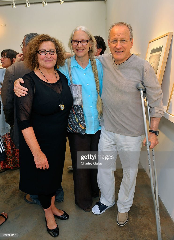 Rose Shoshana of The Rose Gallery, Summer Mann, and director Michael Mann attend the reception of 'Jessica Lange: 50 Photographs 1992-2008' at The Rose Gallery on July 18, 2009 in Santa Monica, California.